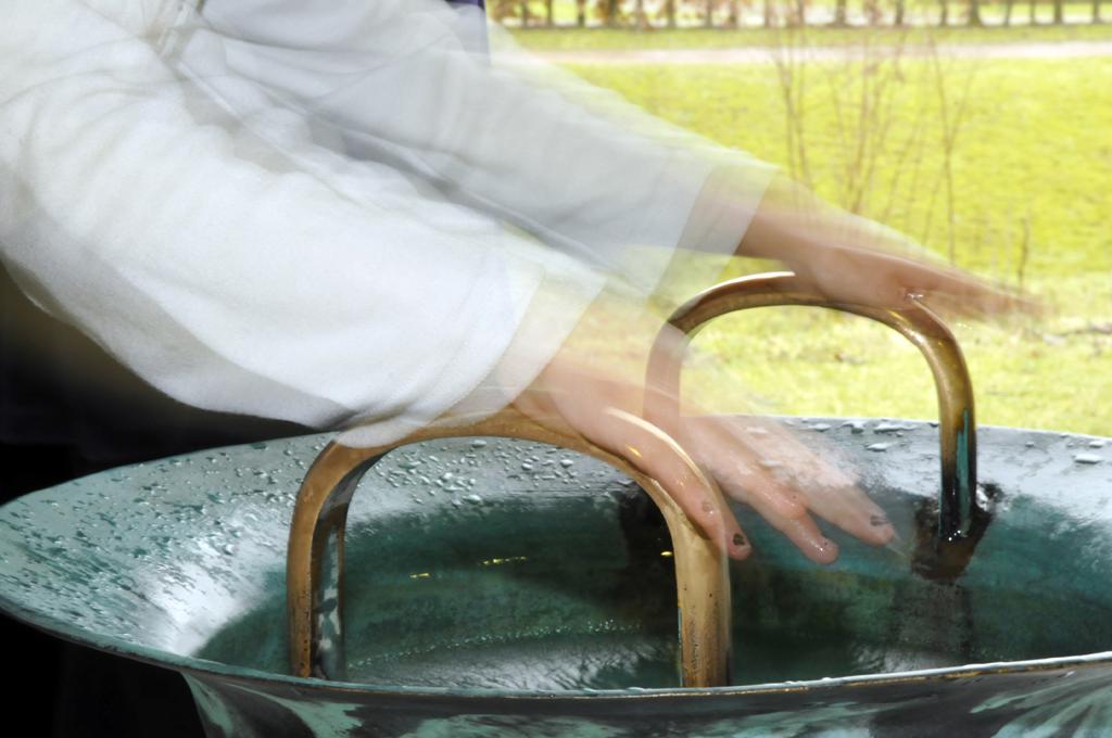 Akki, Wasserspringschale